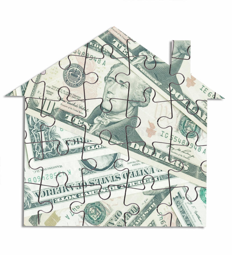 Pieniądze domowa wyrzynarka obraz royalty free