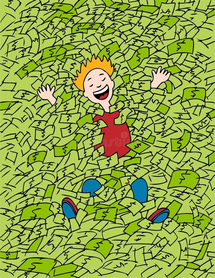 pieniądze dopłynięcie ilustracja wektor