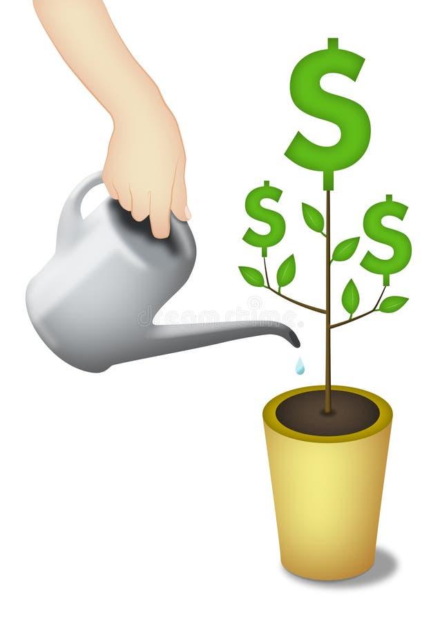pieniądze drzewo ilustracji