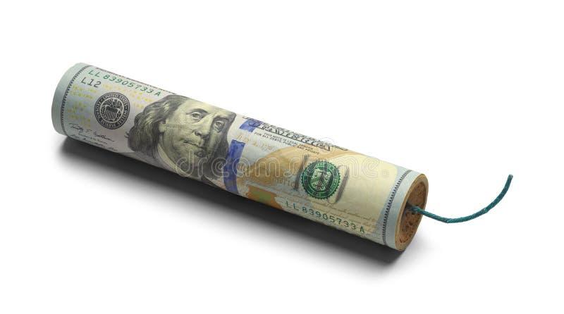 Pieniądze dynamit fotografia stock