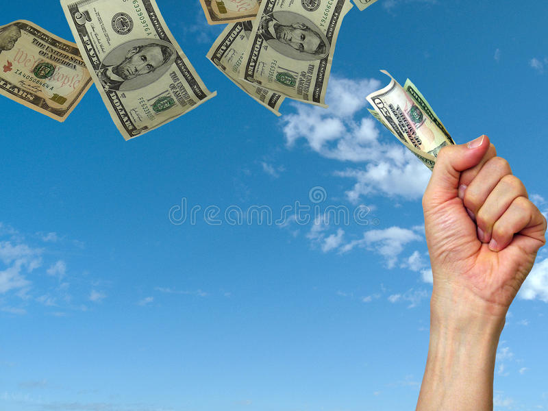 pieniądze dzień wypłaty obraz stock