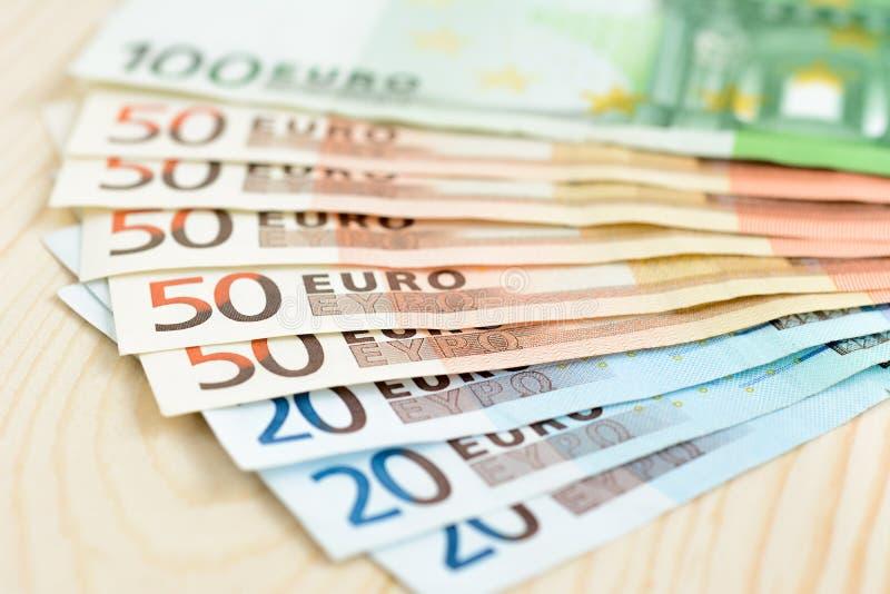 Pieniądze, Euro& x28; EUR& x29; rachunki fotografia stock
