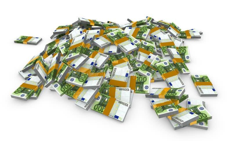 pieniądze euro stos ilustracji