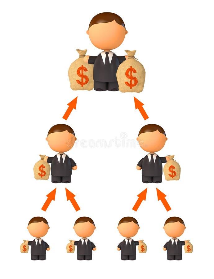 pieniądze finansowego piramida ilustracja wektor