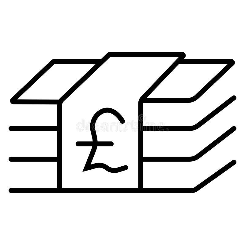 Pieniądze funtowa ikona ilustracja wektor