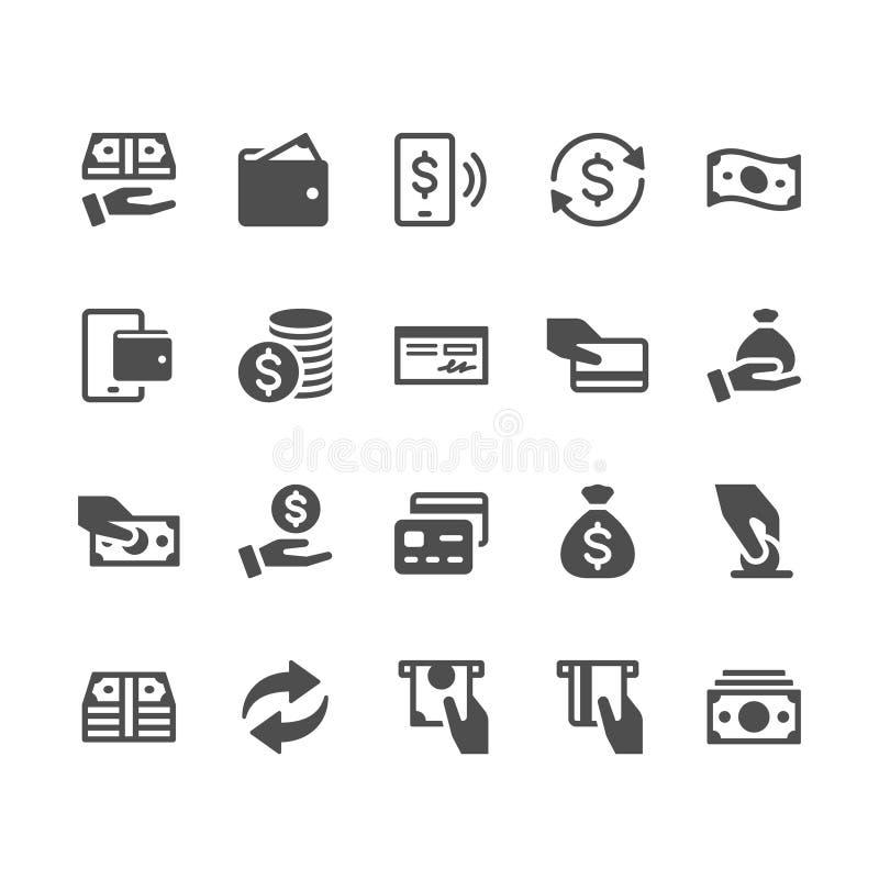 Pieniądze glifu ikony ilustracji