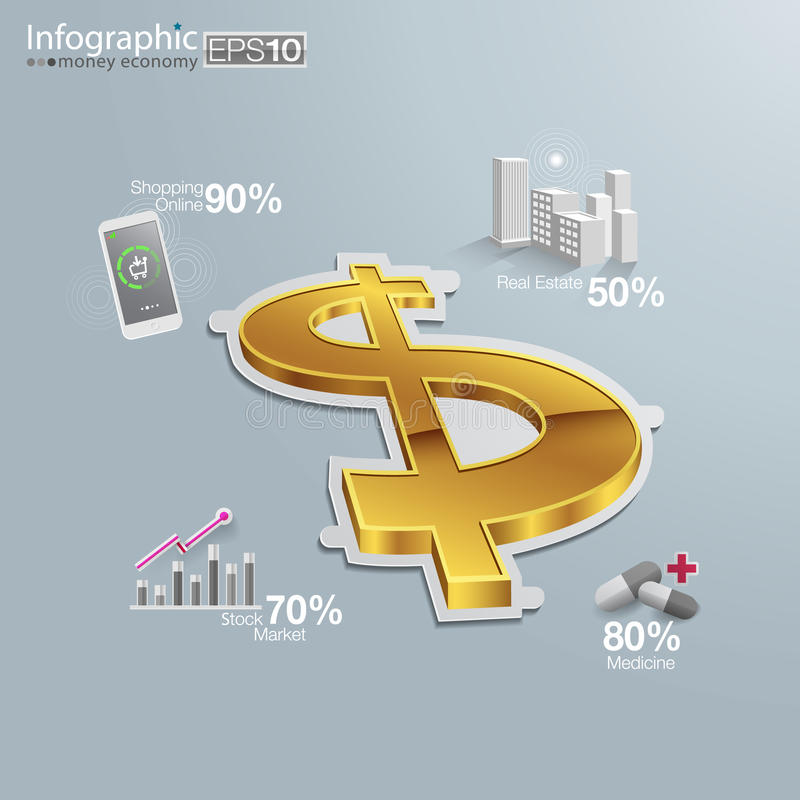 Pieniądze gospodarka ilustracji