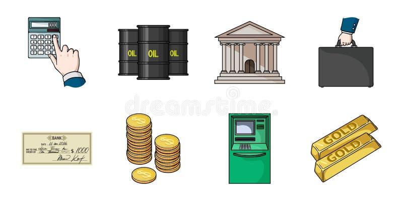 Pieniądze i finanse ikony w ustalonej kolekci dla projekta ilustracji
