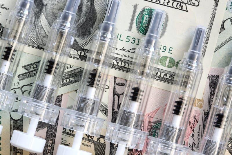 Pieniądze i Medycyna fotografia stock