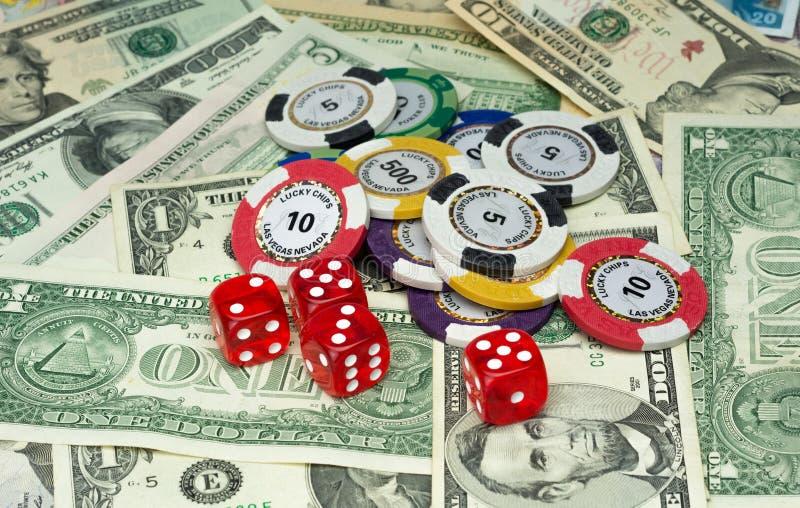 Pieniądze i ryzyko obraz royalty free