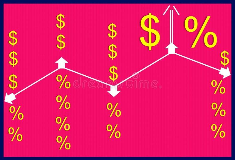 Pieniądze i stopy procentowe ilustracji