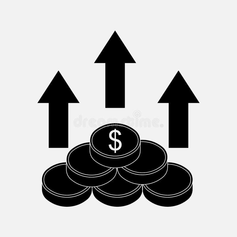 Pieniądze ikona kierunek pieniądze royalty ilustracja