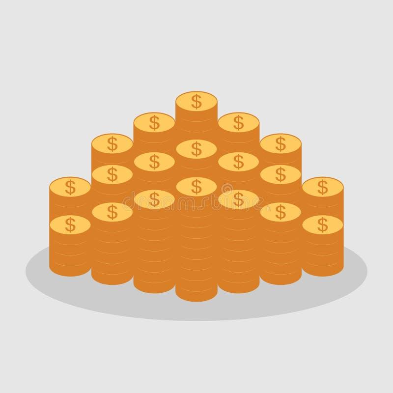 Pieniądze ikona kierunek pieniądze, pojęcie sukces ilustracja wektor