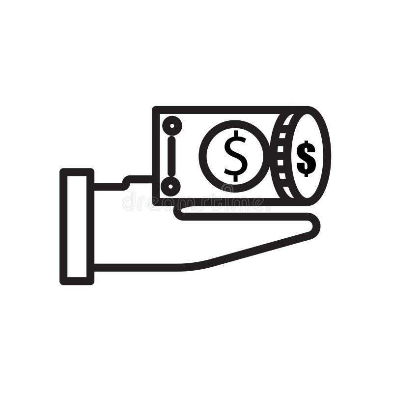 Pieniądze ikona odizolowywająca na białym tle ilustracji