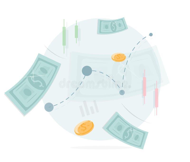 Pieniądze ikona Wymiana i handel royalty ilustracja