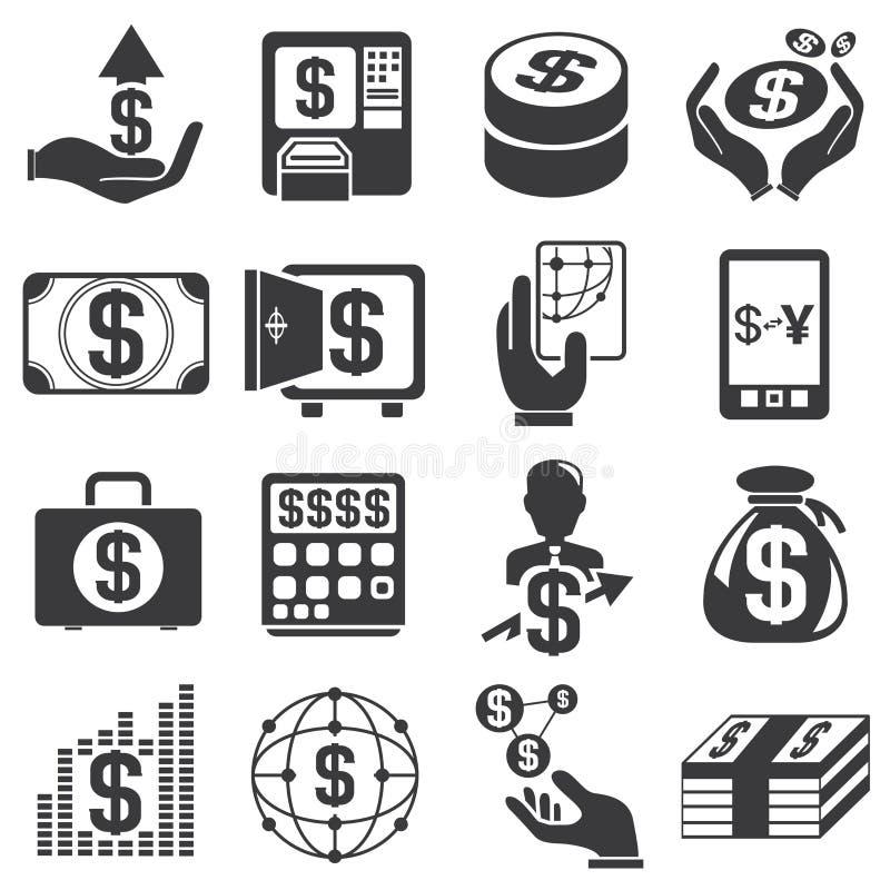 Pieniądze ikony ilustracja wektor