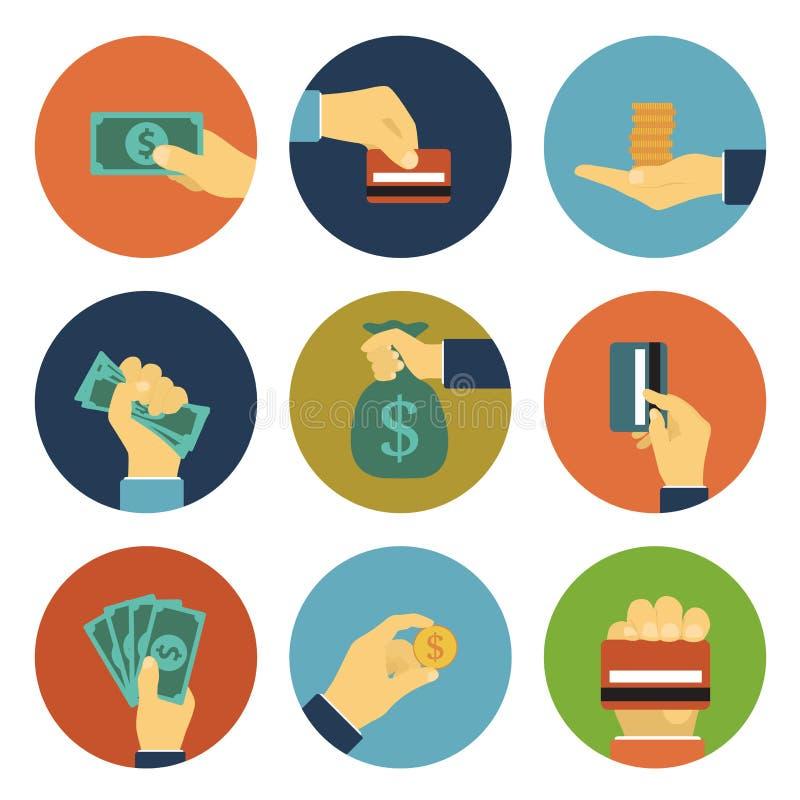 Pieniądze ikony ilustracji