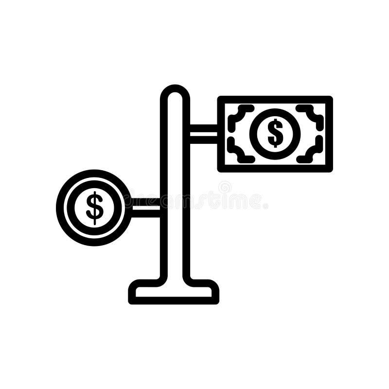 Pieniądze ikony wektoru znak i symbol odizolowywający na białym tle ilustracji