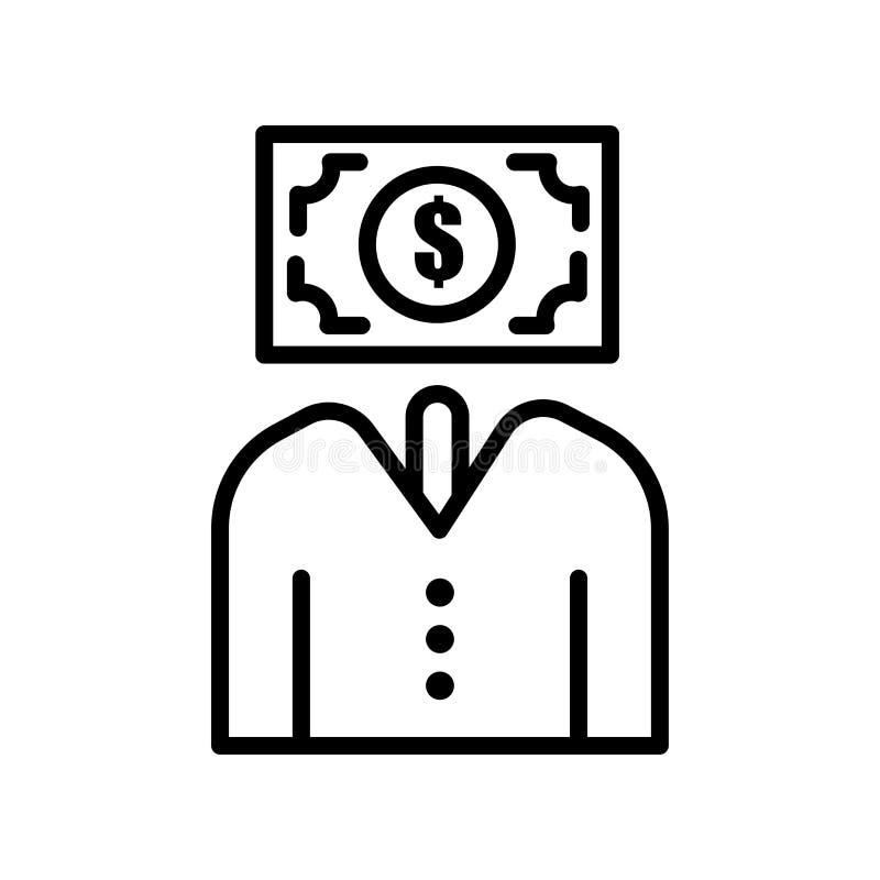 Pieniądze ikony wektoru znak i symbol odizolowywający na białym tle ilustracja wektor