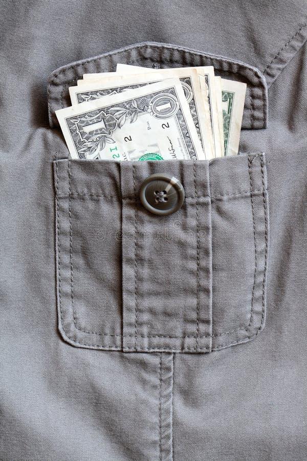 pieniądze kieszeń zdjęcie royalty free