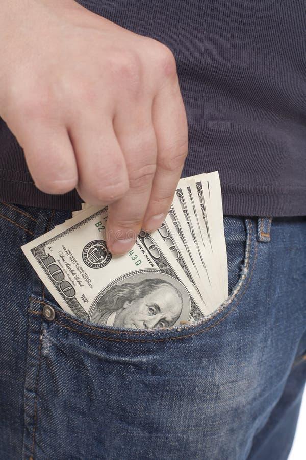 pieniądze kieszeń obraz stock