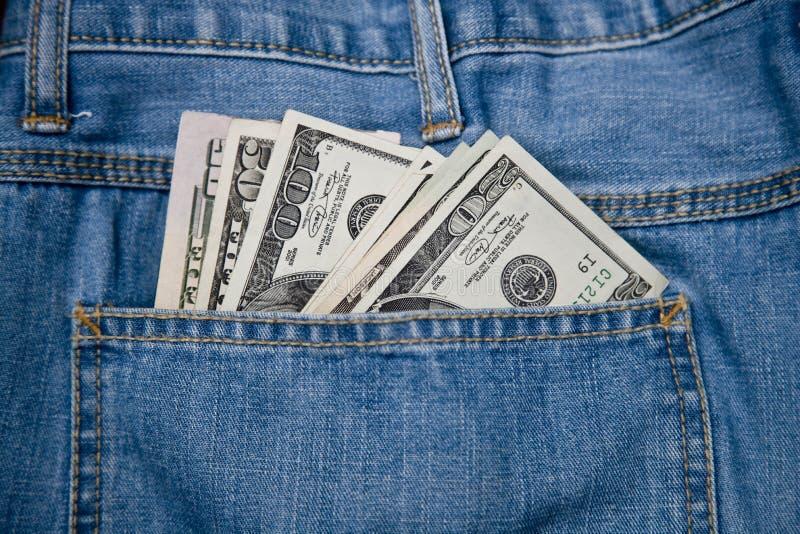 pieniądze kieszenie obraz stock