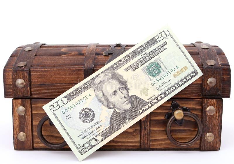 Pieniądze Klatka Piersiowa Bezpłatny Obraz Stock