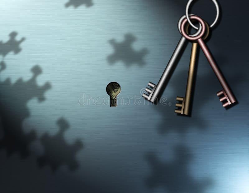 pieniądze klucza ilustracji