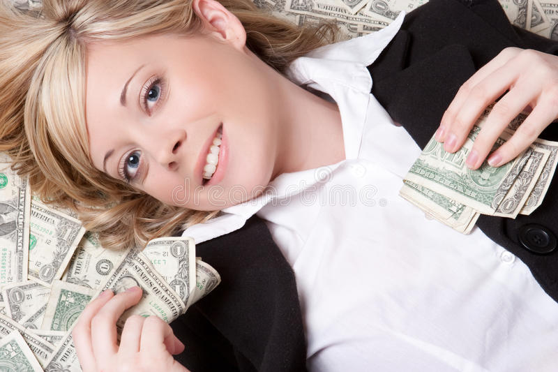 Pieniądze kobieta obraz royalty free