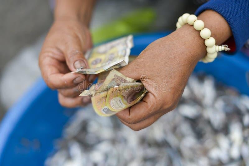 Pieniądze Liczenie obrazy royalty free