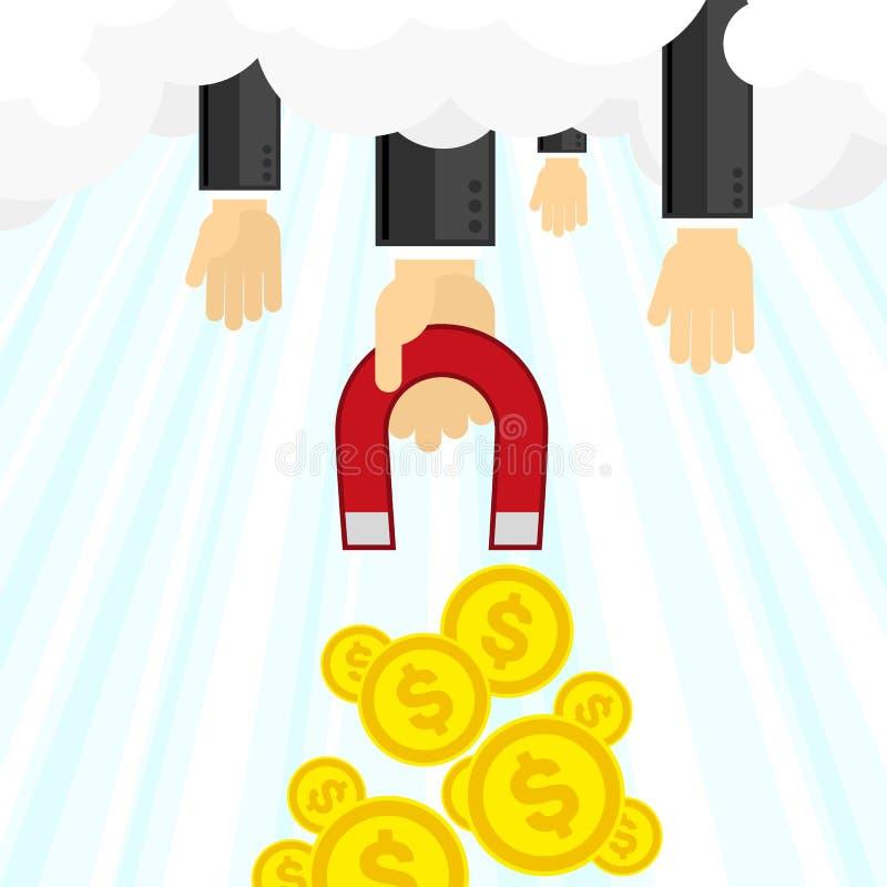 Pieniądze magnesu ilustracja ilustracja wektor