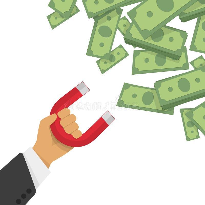 Pieniądze magnesu wektoru ilustracja ilustracja wektor