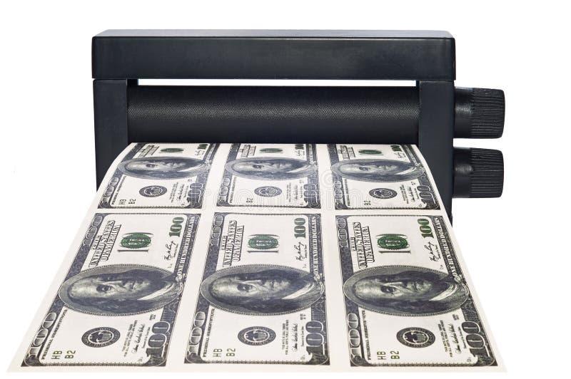 pieniądze maszynowy druk zdjęcia royalty free