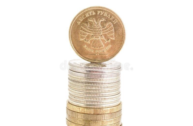 pieniądze menniczy rubel zdjęcia stock