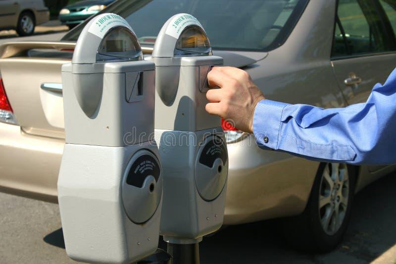 pieniądze na parkingu licznika zdjęcie stock