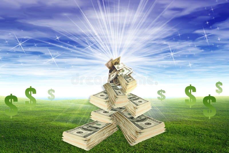 pieniądze niebo ilustracja wektor