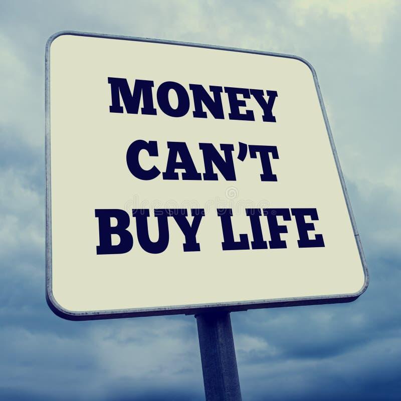 Pieniądze no może kupować życie zdjęcie stock