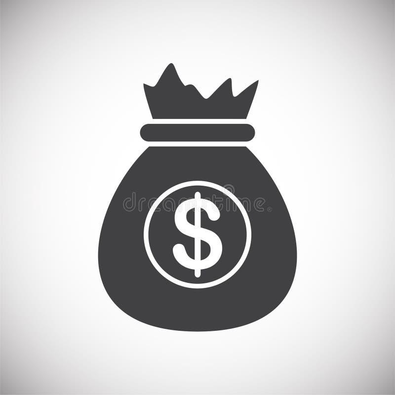Pieniądze ochrona odnosić sie ikonę na tle dla grafiki i sieci projekta samolotu terminal ilustracyjny prosty Internetowy poj?cie ilustracja wektor