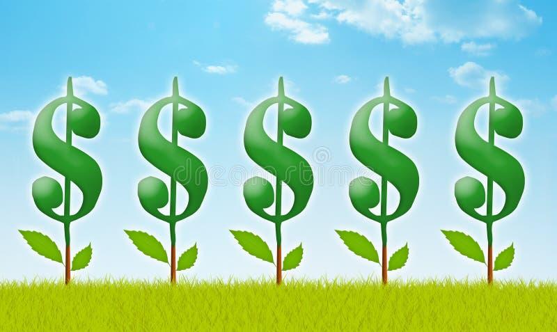 Pieniądze ogród ilustracja wektor