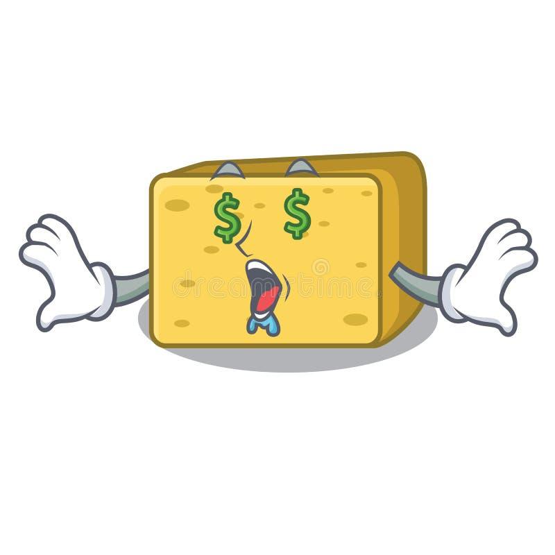 Pieniądze oka gouda sera maskotki kreskówka ilustracji