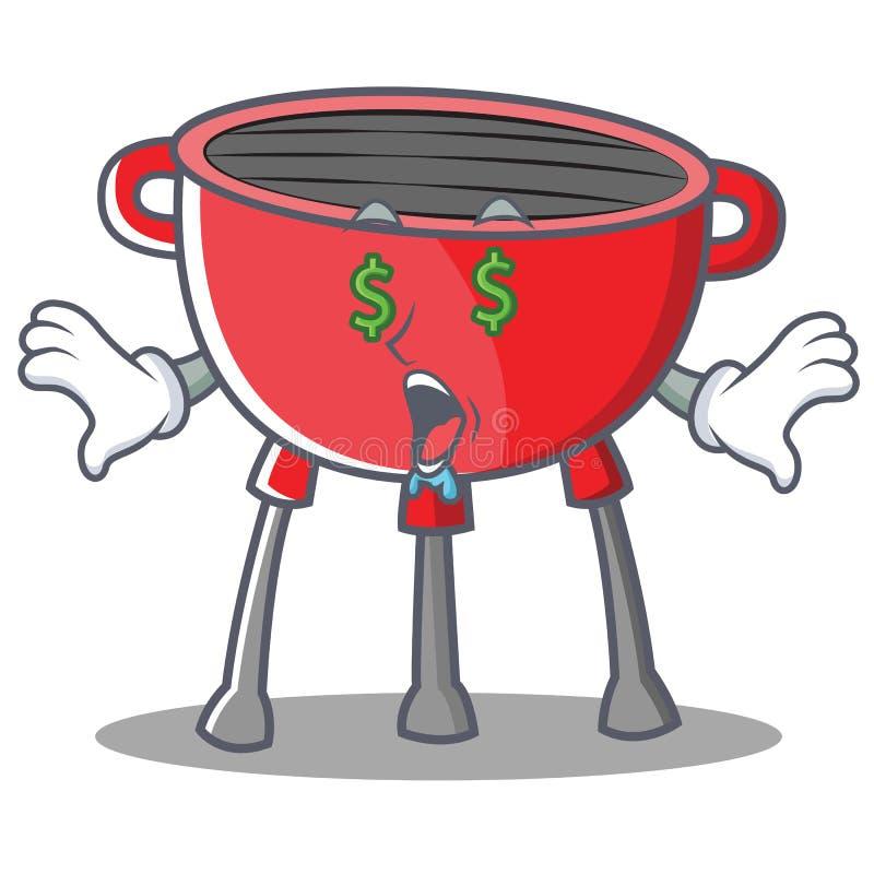 Pieniądze oka grilla grilla postać z kreskówki ilustracji