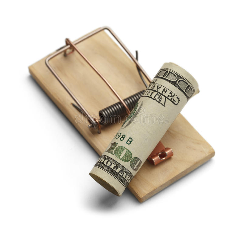 Pieniądze oklepiec zdjęcia royalty free