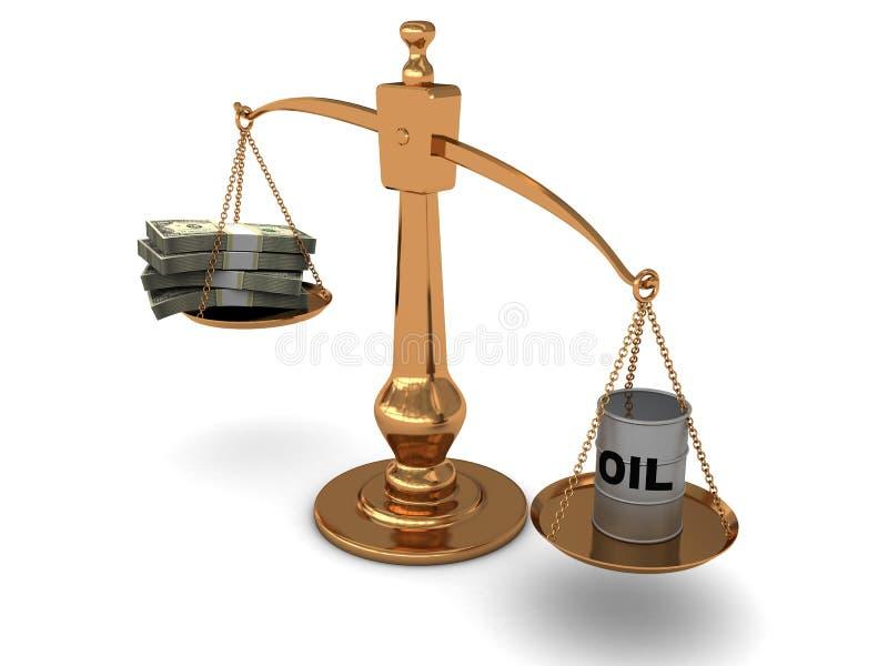 pieniądze oleju skala ilustracja wektor