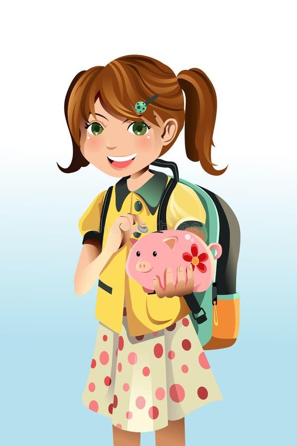 pieniądze oszczędzania uczeń ilustracji