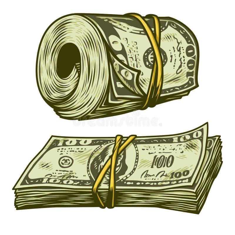 Pieniądze plik odizolowywający royalty ilustracja