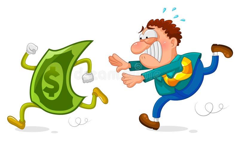 Pieniądze pościg royalty ilustracja