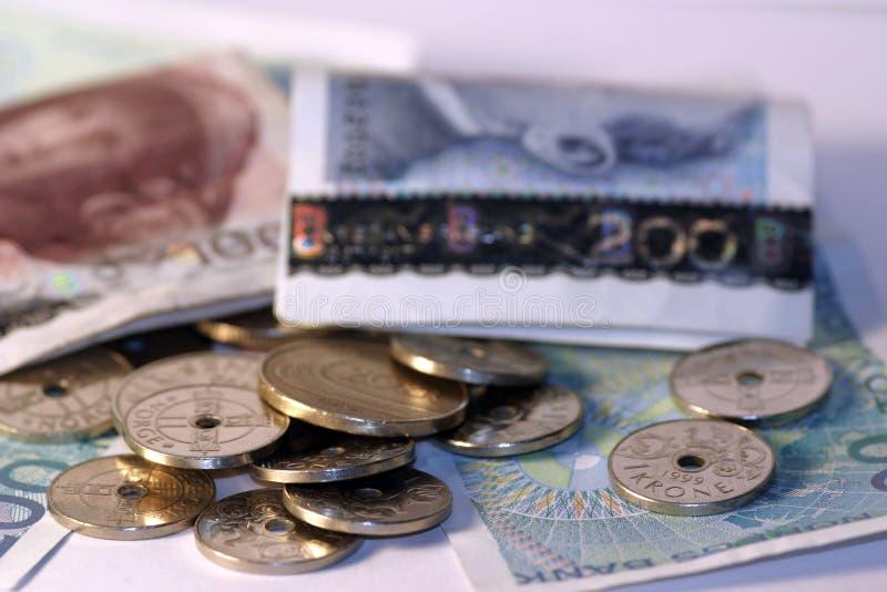 pieniądze po norwesku fotografia stock