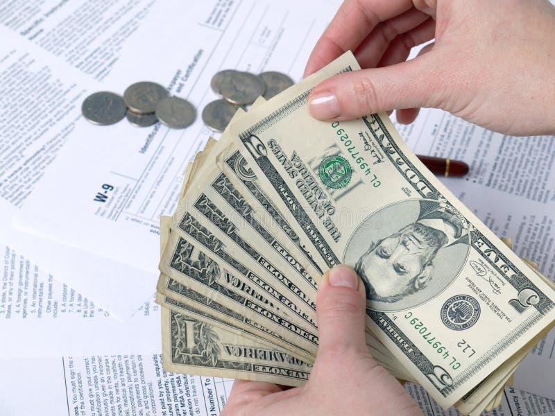 pieniądze podatek zdjęcie royalty free