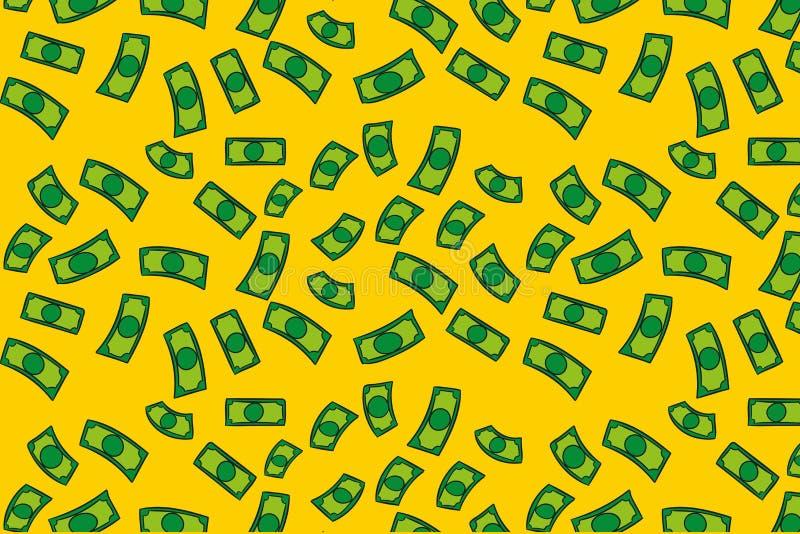 Pieniądze podeszczowy chodak ilustracja wektor