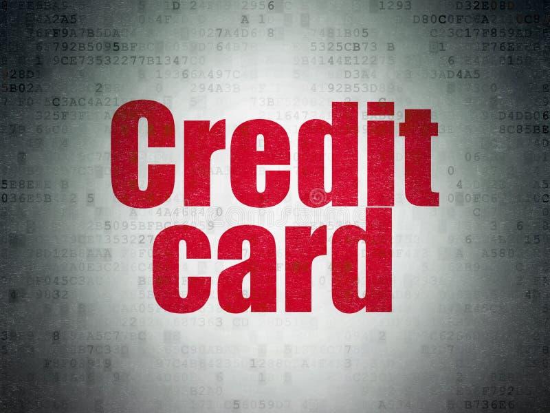 Pieniądze pojęcie: Kredytowa karta na Cyfrowych dane papieru tle zdjęcie royalty free